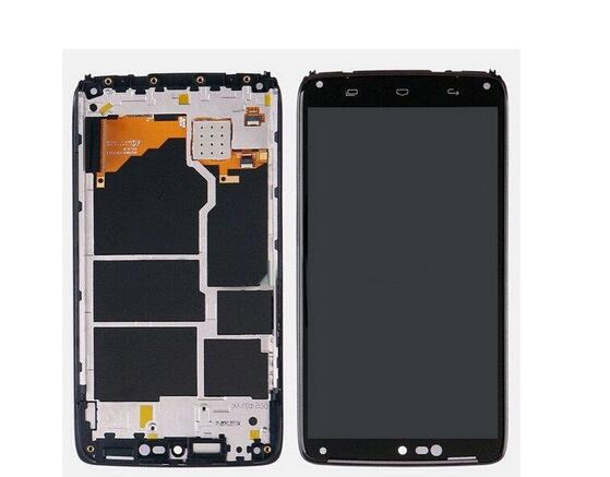 2pcs Black For Motorola Moto Droid Turbo XT1254 XT1225 LCD Touch screen Display with digitizer + Bezel Frame ,Free shipping<br><br>Aliexpress