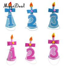MagiDeal Baby Infant 1st 2nd 3rd Birthday Party Cone Hat for Baby Shower Kids Boys Girls Birthday Party Celebration Cap