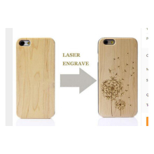 2017 Hot Sale New Laser Engrave Real Wood and plastic Custom Any Pattern DIY Logo For IPhone 6/6s/6plus/6sPlus 4.7 Inch 5.5inch(China)