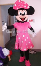 NEW PINK MINNIE MOUSE COSTUME MASCOT MINNIE COSTUME MASCOT CARTOON DRESS