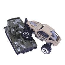 6pcs/Set 1:64 Alloy Model Military Vehicle Slide Cars Puzzle Boy Kids Toys Collection New Year Gift For Boy Children(China)