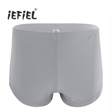 iEFiEL Hot Brand Men Lingerie Side Split Ice Silk Boxer Shorts Slip Hommes Trunks Style Underwear Underpants Gay Mens Panties(China)