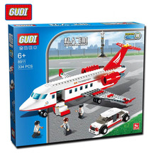 GUDI 334 pcs Plane Toy Air Bus Model Airplane Building Blocks Sets Model DIY Bricks Classic Toys Compatible With Legoe
