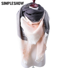 2017 New Fashion Women Winter Scarf For Women Scarf Luxury Cashmere Shawls and Scarves Women Wool Plaid Pashmina Free Shipping