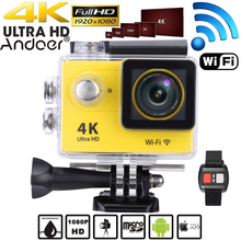 "2.0"" LCD 4K 1080P Full HD APP Wifi Action Camera Sports DV 30M Waterproof 12MP 170 Wide Angle Lens Camcorder with Remote Watch"