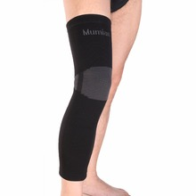Elastic Sports Leg Knee Support Brace Wrap Protector Knee Pads Sleeve Cap Patella Guard Volleyball Long Knee - Black - 1PCS(China)