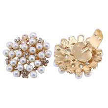 2Pcs/Pair Shoes Bag Dress Women's Fashion Wedding Party Prom Pearl Rhinestone Crystal  Shoe Clips Decoration