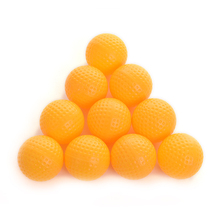 20pcs indoor exercise ball golf professional practice hollow ball-Yellow(China)