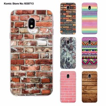 Brick Wall Mosaic granite Marble Thin Clear phone shell Case for Samsung J3 J7 2017 J5Prime J7Prime J510 J710 J2 2016 J1