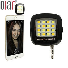 Portable Rechargeable Mini 16 Selfie Flash LED Camera Lamp Light  Smart 3.5mm For iPhone 5 5s6 6s 7 plus  Samsung HTC Android