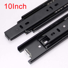 Excellent Quality Portable 3 Fold Telescopic Fully Extension 25cm Drawer Runner Slides Rail Heavy Duty K178/2