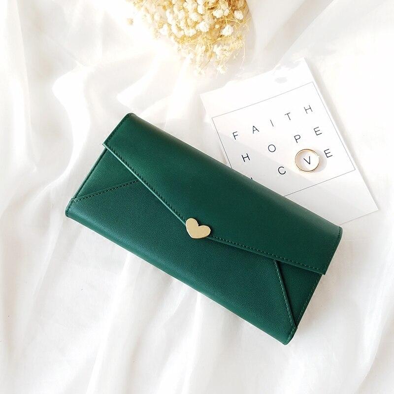 Sliver Heart Snap Closed Womens Wallets Long Wallet Genuine Leather Pink Clutch Branded Wallets Ladies Designer Purses Handbags<br>