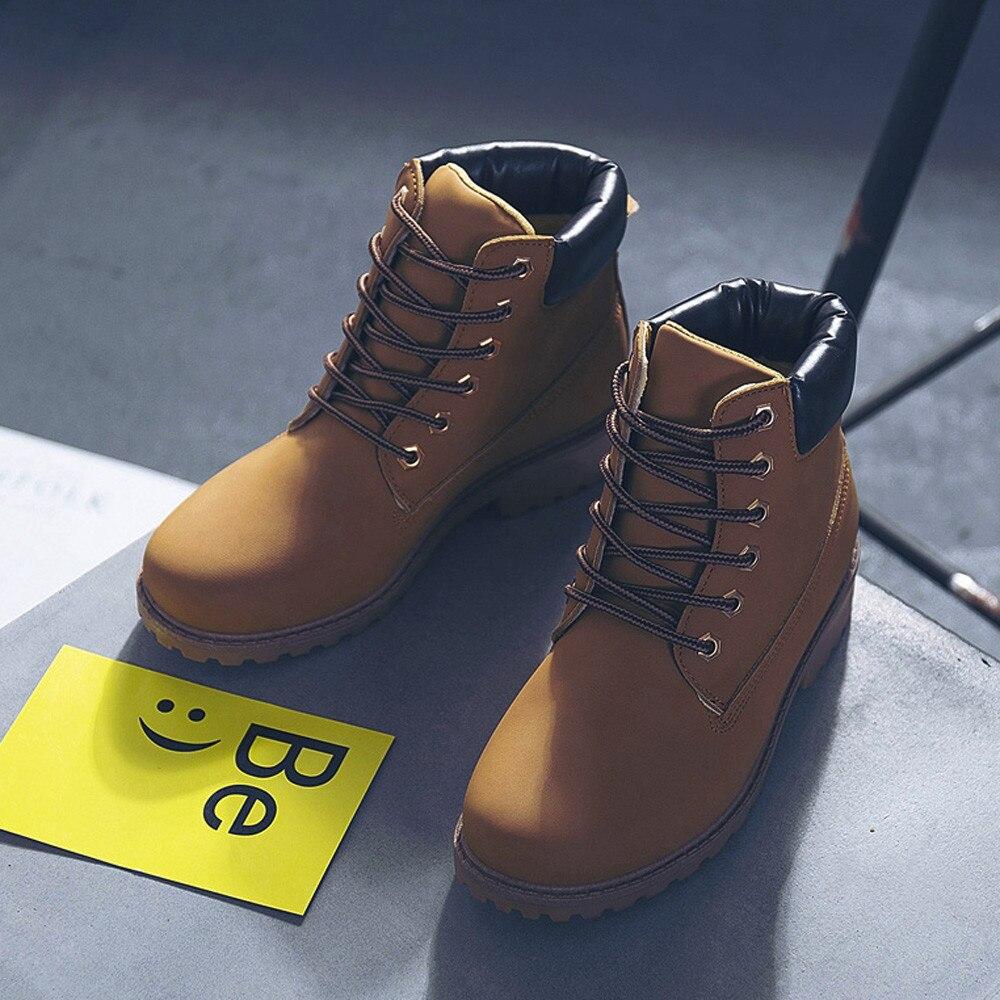 Szyadeou Women Ladies Round Toe Lace-up Faux Boots Ankle Casual Martin Shoes botas mujer invierno kozaki damskie schoenen 30 30