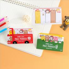 2 pcs/lot Cute Cartoon Happy Bus Memo Pad Creative Stationery Post It Kawaii Diy Planner Stickers Sticky Notes School 6172