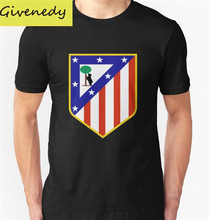 Stylish Cool cotton T Shirt Summer Style Atletico Madrid t-shirts Men Custom Design team logo Tee shirts free shipping