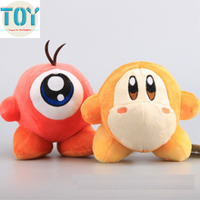 New Super Mario Kirby Adventure All Star Waddle Dee Waddle Doo 5.5'' Anime Toys Soft Plush Baby Doll Kids Gifts