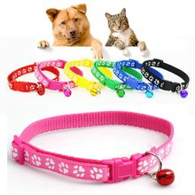 2017 New 1 X Lovely Footprint Collar Strap Buckle Small Footprint Dog Puppy Nylon Fabric Cat Kitten Pet Collar Pet Supplies(China)
