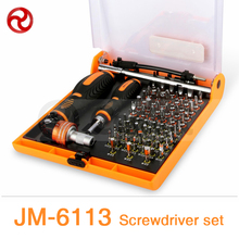 "JAKEMY 73in1 Screwdriver Set 180""Adjustable Magnetic Ratchet Laptop Computer Household Auto Car Mechanic Repair Tool Kit JM-6113(China)"