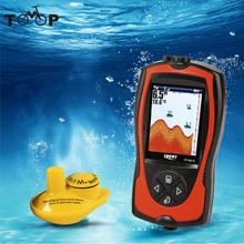 LUCKY 2-in-1 Rechargeable Fish Finder 2.4inch LCD Wireless Sonar Transducer Depth Locator ICE Ocean Alarm Fishing Detector