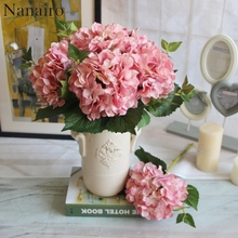 1pcs Cheap Artificial Hydrangea Flower Ball DIY Silk Hydrangea Accessory for Home Wedding Decoration Fake Flores Bouquet(China)