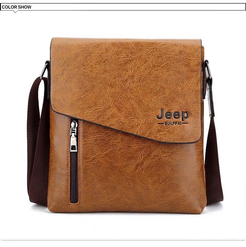 b546030b768 JEEP Sulppai Man Vertical PU Leather Bag Men Messenger Business ...