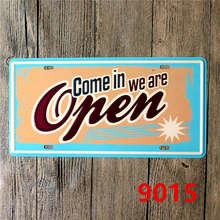 15*30 CM Open Beer Signs Vintage Home Plaque Metal Pub Decorative Tin Plates