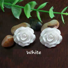 30pcs 7 Colors Resin Rose Flower flatback Appliques For DIY craft Free Shipping