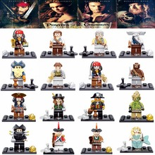 Single Sale Pirates Of The Caribbean Jack Sparrow Elizabeth Mermaid Barbosa Mini Bricks Building Block Toys For Children