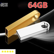 Top Sale Waterproof 64GB 32GB 16GB 2GB  Usb Flash Drive Mini key Pen Drive Metal Usb  Memory Disk Usb 2.0  Free Shipping
