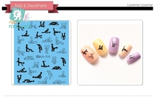RU2PCS DLS261-270 Water Foils Nail Art Sticker Fashion Nails Sex Tokyo Hot Decals Minx Cute Nail Decorations(China)