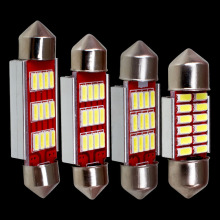 31mm 36mm 39mm 41mm C5W C10W CANBUS NO Error Auto Festoon Light 12 SMD 4014 LED Car Interior Dome Lamp Reading Bulb White DC 12V