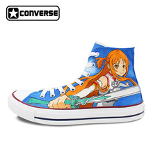 Converse All Star Shoes Mens Womens Designer Shoe Sneakers Brand Anime Shoes Sword Art Online Athletic Skateboard