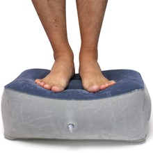 Foot Pain Relief Cushion Pad Foot Rest Pillow Cushion PVC Inflatable Poratble Travel Relax Footrest Home Outdoor Supplies