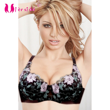 Mierside Sexy Bra Soft Cotton Padded with Lace Embroidery Women Underwear 34B 38B sexy cotton bra and lace WX14020(China)