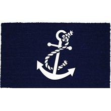 Anchor 18 x 30 Inches Coco Coir Doormat, Nautical Welcome Mat Indoor/outdoor Durable and Washable Decor Bathroom Entrance Rug(China)