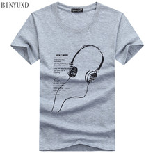 Buy BINYUXD 5XL Tee Shirt Men Large Size Clothes Men T-Shirt 2017 Fashion Printed Cartoon Short Sleeve Music Casual Cotton for $4.40 in AliExpress store