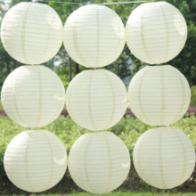 "10pcs 12"" 30cm White Round Chinese Paper Lantern Chinese Paper Ball For Home hanging lantern Event Party decoration"
