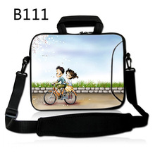 Bicycle Lovers 12 13 14 15 17 Inch Computer Laptop Soft Notebook Tablet Bag Bags Case Messenger Shoulder unisex men women(China)