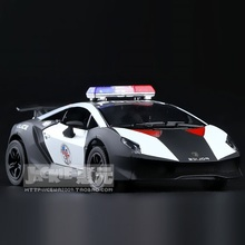 High Simulation Exquisite Diecasts&Toy Vehicles KiNSMART Car Styling Sesto Elemento Police CCar 1:38 Alloy Diecast Model Toy Car(China)