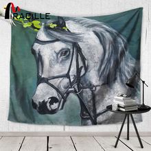 Miracille Horse Hippie Tapiz Wall Art Hanging Tapestry Beach Towel Yoga Mat Decorative Blanket Wall Carpet Home Textile Decor