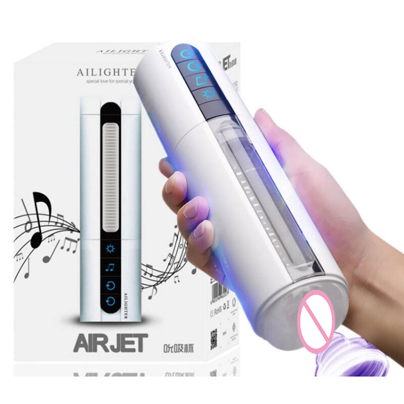 Smart Air Sucking Male Masturbator Induction Girl Sex Moans Sex Machine Heating Vibrating Artificial Vagina Sex Toys for Men<br>