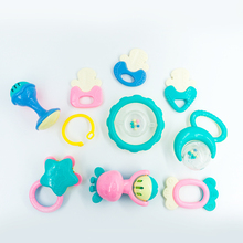 10PCS/Set Fun Little Loud Jingle Ball Ring Develop Baby Intelligence Training Grasping Ability Rattles Baby Toys 0-12 Months(China)