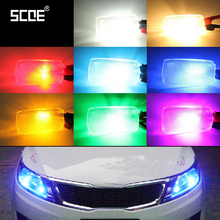 SCOE Car Styling T10 W5W 2x6SMD 12V LED Clearance Light Lamp Source For Toyota Crown Vois Camry Highlander Previa RAV4 Yaris