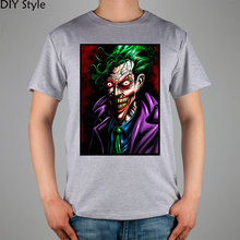 joker with colors why so serious Batman T-shirt Top Lycra Cotton Men T shirt New Design High Quality