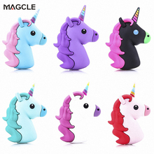 Real 1800mah Unicorn powerbank Cute Portable Emoji Power Bank Charger Cartoon USB Battery Bateria For mobile phone drop shipping