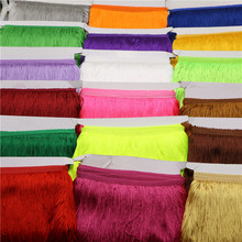 Set of 1yard/Lot 15CM Width Polyester Tassel Fringe Trim For DIY Latin Dress African Lace Yarn Ribbon For Sewing Curtain FJ02a
