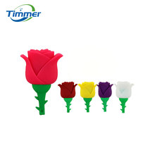 Beauty Rose Design Valentine Gift Silicone USB Flash Drive USB 2.0 Memory Stick1GB 2GB 4GB 8GB 16GB 32GB Pen Drive Hub