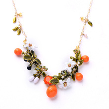 Small Mixed Batch of Factory Outlets Personality Drop Glaze Fruit Pendant Necklace 2015