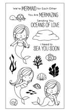 Coolhoo Mermaid TPR Silicone clear Transparent Stamp DIY Scrapbooking/Card Making/ Decoration Supplies