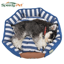 2017 Dog Bed Cotton Material Soft Blue Stripe Available in Pet Kennel Dog Cat House Puppy Cushion Fast Ship Domestic Services